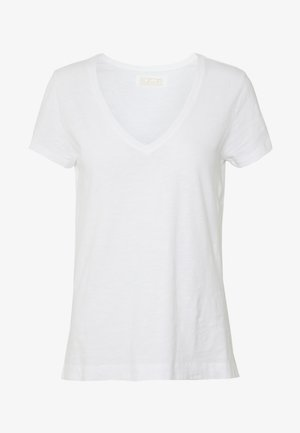 ARDEN V NECK TEE - Basic T-shirt - white