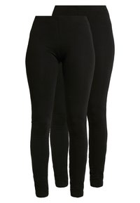 Even&Odd - 2 PACK - Leggings - black - 0
