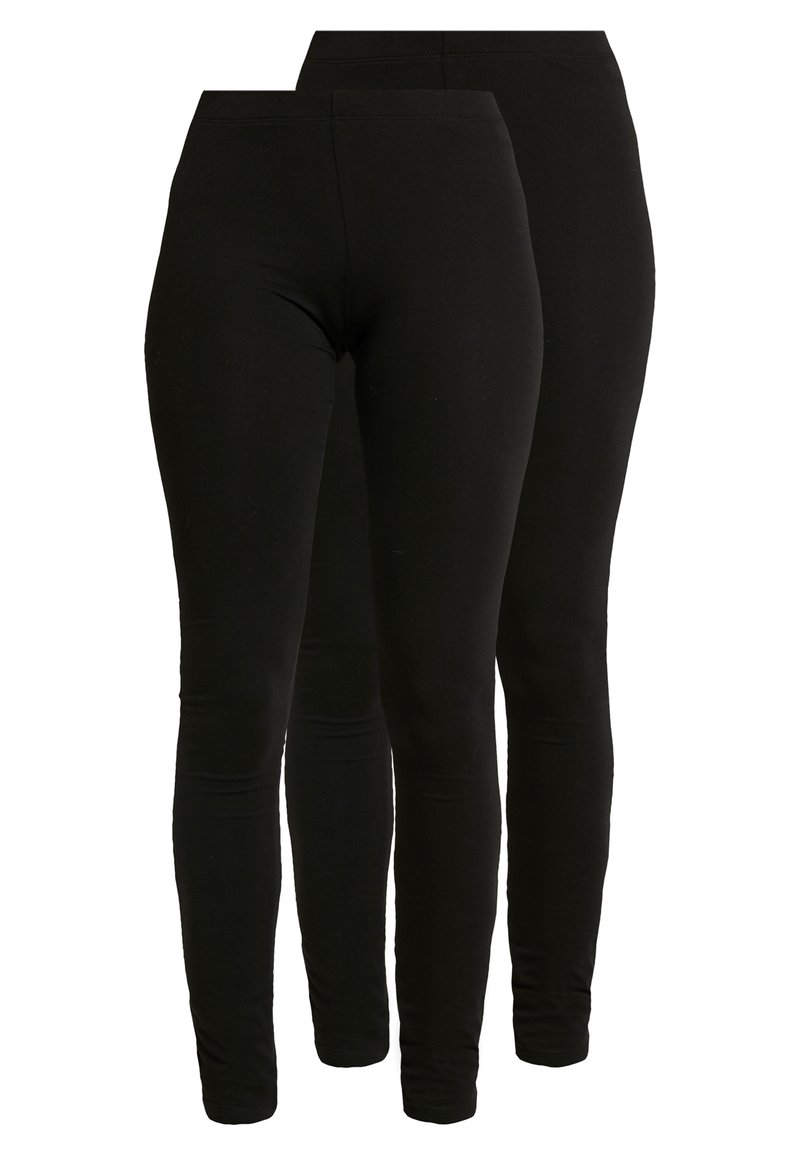 Even&Odd - 2 PACK - Leggings - Hosen - black
