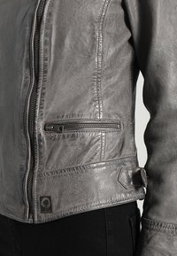 Oakwood - Leather jacket - anthracite - 3