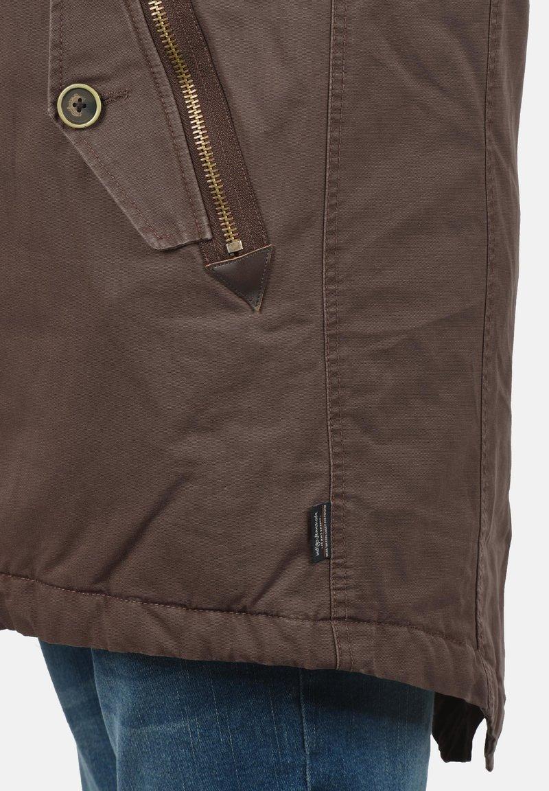 INDICODE JEANS PULSOOR - Wintermantel - dark brown/braun Edt2fF
