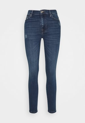 SKINNY CROP - Jeans Skinny Fit - dark blue