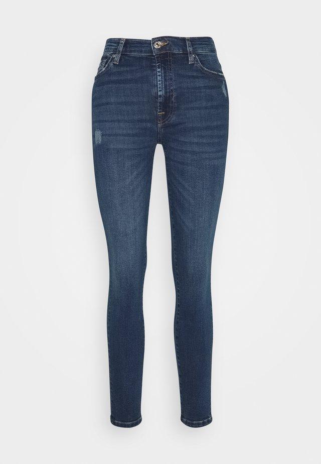 SKINNY CROP - Jeansy Skinny Fit - dark blue