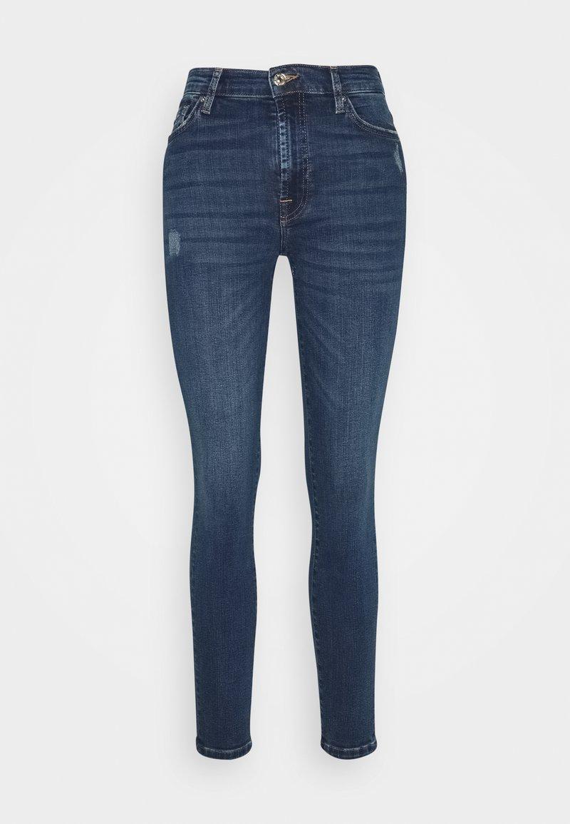 7 for all mankind - SKINNY CROP - Jeans Skinny Fit - dark blue