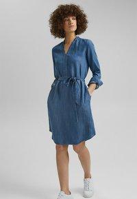 Esprit - Denim dress - blue medium washed - 1