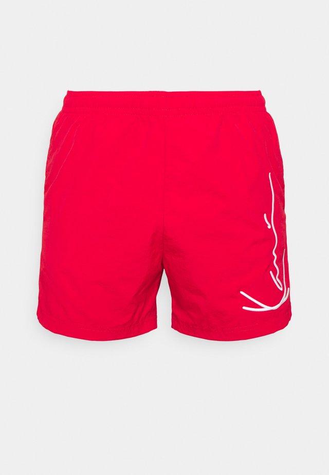 SIGNATURE BOARD - Shorts da mare - red
