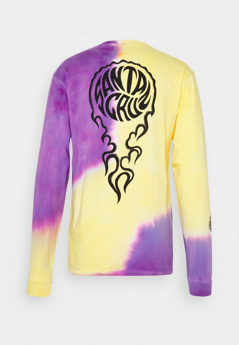 Santa Cruz - UNISEX MAKO - T-shirt con stampa - yellow/purple