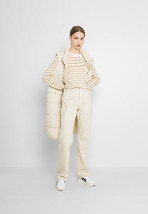 MAJA - Long sleeved top - beige/blue/white