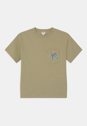 T-shirt print - khaki