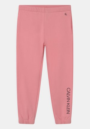 INSTITUTIONAL LOGO  - Tracksuit bottoms - soft berry