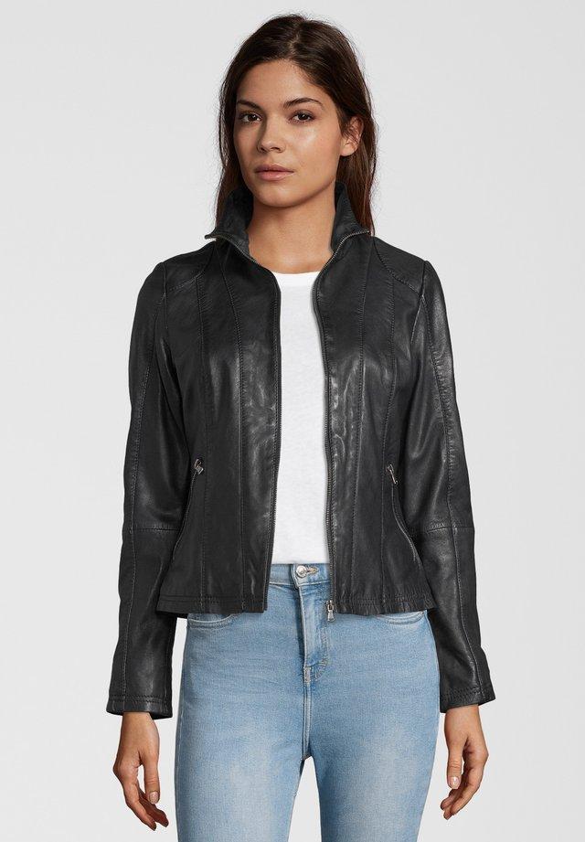 LEA - Leather jacket - black