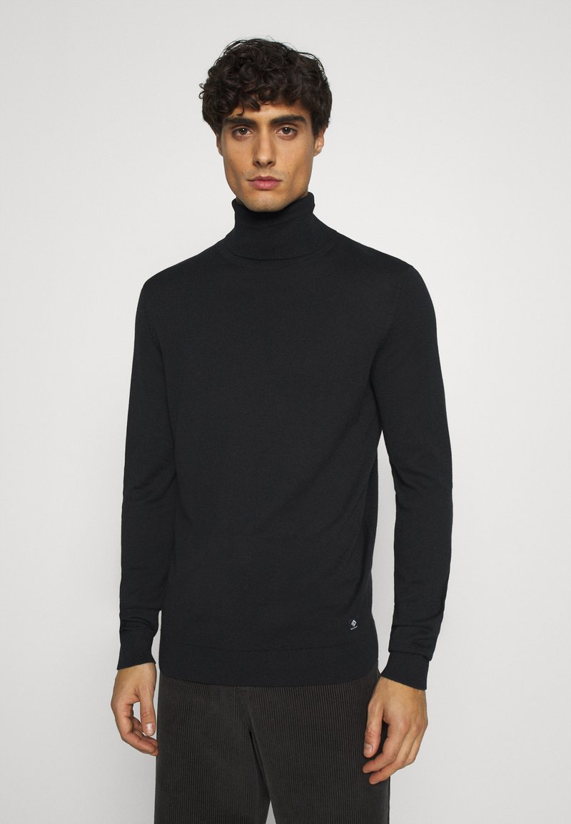 TOM TAILOR DENIM - BASIC ROLLNECK - Trui - black