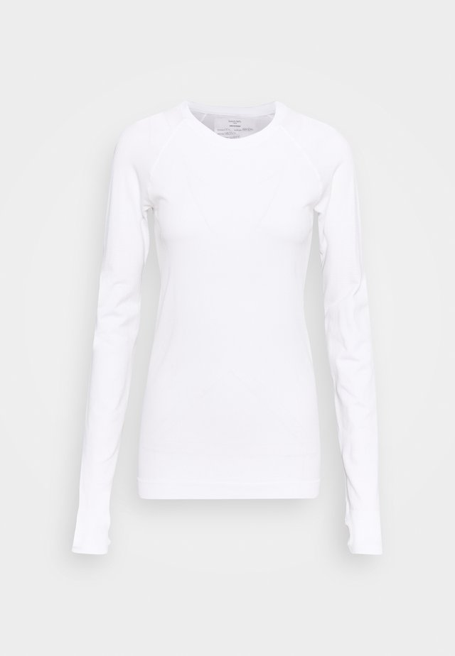 ATHLETE SEAMLESS WORKOUT - Sports shirt - white