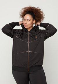 Active by Zizzi - Zip-up hoodie - black - 0