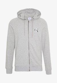 Calvin Klein Underwear - CK ONE FULL ZIP HOODIE  - Pyjama top - grey - 4