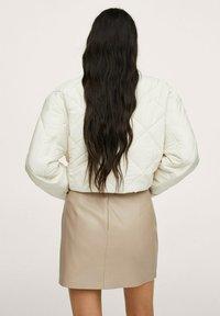 Mango - LEEREFFECT - Wrap skirt - licht/pastelgrijs - 2