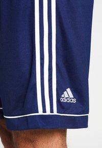 adidas Performance - SQUADRA CLIMALITE FOOTBALL 1/4 SHORTS - Sportovní kraťasy - dark blue/white - 3