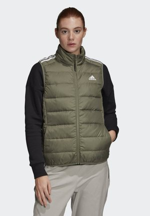ESSENTIALS DOWN VEST - Kamizelka - green