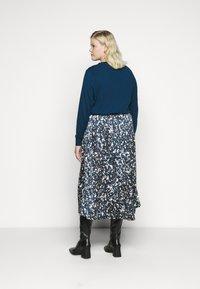 Kaffe Curve - KCBINE SKIRT - A-line skirt - midnight marine - 2