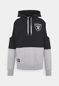 New Era - LAS VEGAS RAIDERS NFL CONTRAST PANEL HOODY - Felpa con zip - black - 4