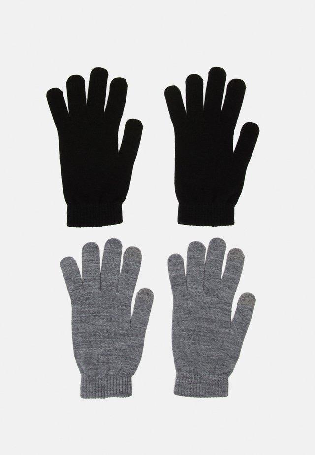 JACHENRY GLOVES 2 PACK - Fingerhandschuh - black/grey melange