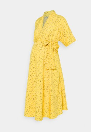 BOW MIDI DRESS - Vestido informal - yellow flower