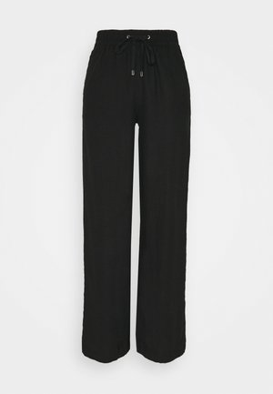 WIDE LEG - Pantaloni - black