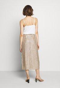 MANÉ - LAELIA SKIRT - A-line skirt - champagne/gold - 2