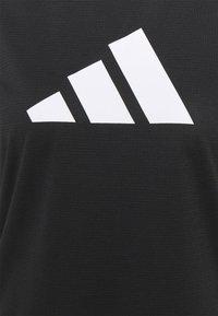 adidas Performance - LOGO TEE - Print T-shirt - black/white - 5