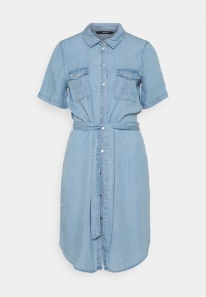 VMSILJA SHORT DRESS - Denim dress - light blue denim
