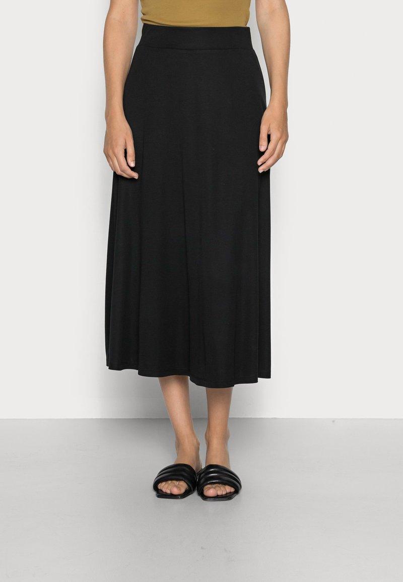 Esprit Collection - GATHERED SKIRT - A-line skirt - black