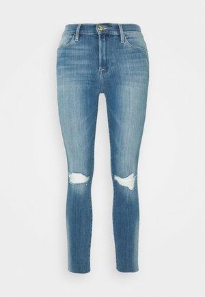 HIGH CROP - Skinny-Farkut - blue denim