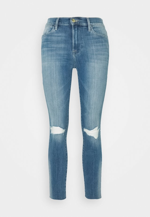 HIGH CROP - Jeans Skinny Fit - blue denim