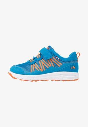 HOLMEN - Hiking shoes - blue/orange