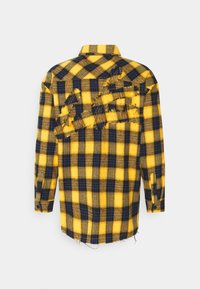 The Couture Club - OVERSIZED CHECK WITH COUTURE APPLIQUE SIGNATURE - Skjorta - yellow/blue - 1