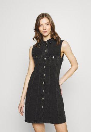 JDYSANNA LIFE BUTTON DRESS - Denim dress - black denim