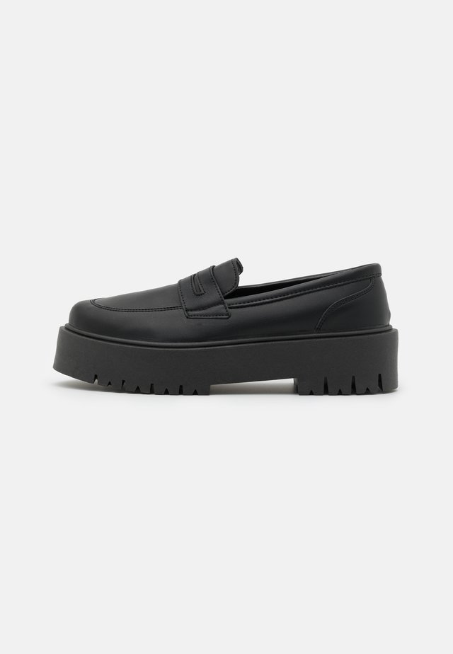 LOWDOWN LOAFER - Lodičky s platformou - black