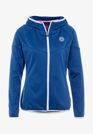 INGA TECH JACKET - Sweater met rits - dark blue/white