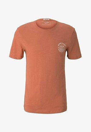 Print T-shirt - orange lobster