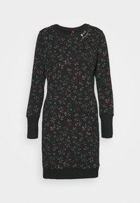 Ragwear - MENITA FLOWERS - Denní šaty - black - 4