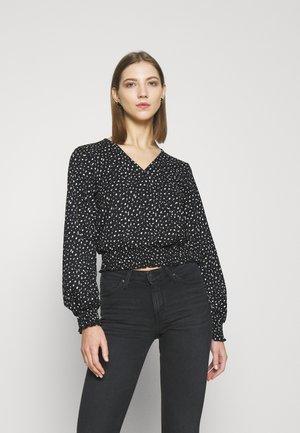 ONLZILLE  - Langarmshirt - black/white ditsy