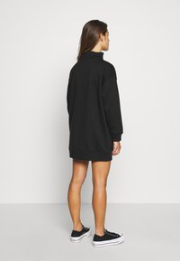 Missguided Petite - LACE UP MINI DRESS - Vestido informal - black - 2