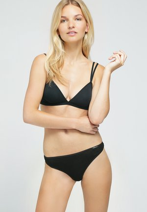 DAMEN STRING 2ER PACK - Thong - black