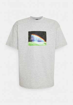 RAINBOW - Print T-shirt - heather grey