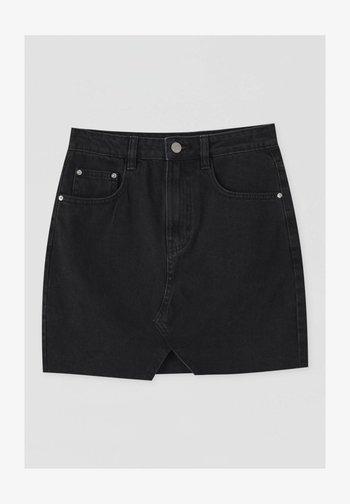Denimová sukně - mottled black