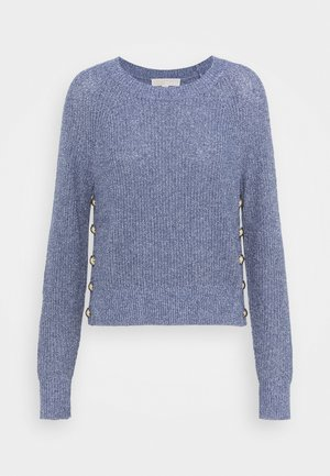 SIDE BUTTON - Sweter - true navy