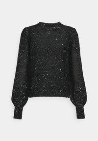 Vero Moda - VMLEILANI O-NECK - Jumper - black/silver - 1