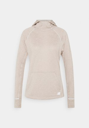 HEAT GRID HOODIE - Huppari - mottled light grey