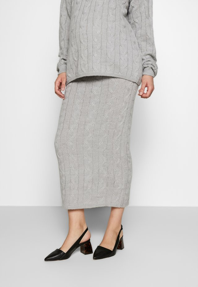 CABLE SKIRT - Kokerrok - grey