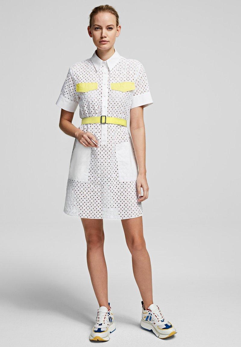 KARL LAGERFELD - Shirt dress - white